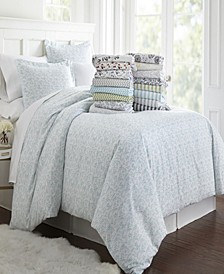 Tranquil Sleep Patterned Duvet Cover Set by The Home Collection
