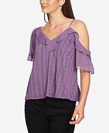 1.STATE One-Shoulder Ruffle Top
