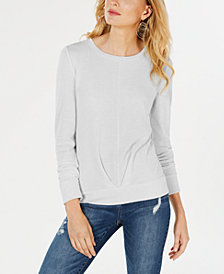 I.N.C. Pleated-Front Knit Top, Created for Macy's