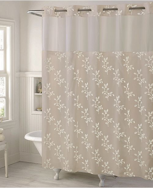 Hookless Spring Leaves 3 In 1 Shower Curtain