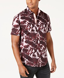 I.N.C. Men's Abstract Graphic & Text Shirt, Created for Macy's