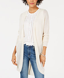 American Rag Juniors' Texture-Stitched Cardigan, Created for Macy's