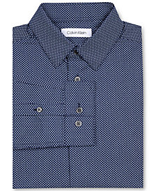 Calvin Klein Big Boys Dot-Print Stretch Shirt