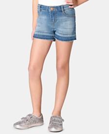 Epic Threads Little Girls Frayed-Hem Denim Shorts, Created for Macy's