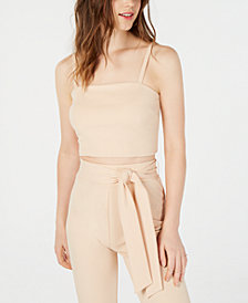 Material Girl Juniors' Ribbed Cropped Cami Top, Created for Macy's