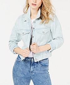 GUESS Leda Cotton Embellished Denim Jacket