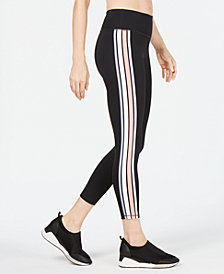 Ideology Varsity-Stripe Cropped Leggings, Created for Macy's