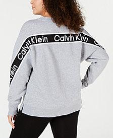 Calvin Klein Performance Plus Size Logo-Tape Top
