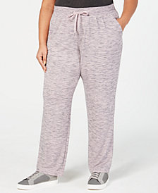 Ideology Plus Size Heathered Sweatpants, Created for Macy's