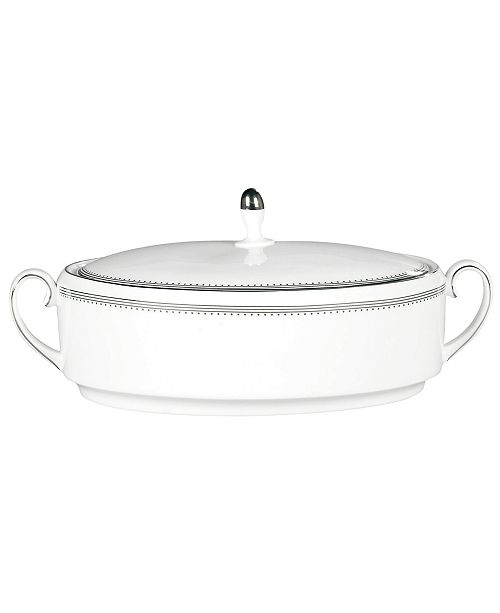 Vera Wang Wedgwood Dinnerware, Grosgrain Covered Vegetable Bowl