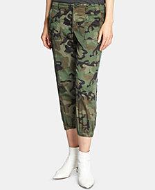 Sanctuary Peace Trooper Camo-Print Cropped Sport Pants
