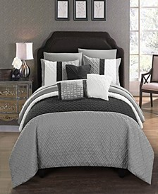 Osnat 8 Piece Twin Bed In a Bag Comforter Set