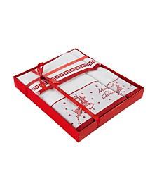 Enchante Home Christmas Reindeer 3-Pc. Towel Set