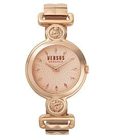Versus Women's Sunnyridge Extension Rose Gold-Tone Stainless Steel Bracelet Watch 34mm