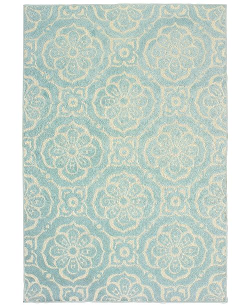 "Oriental Weavers Barbados 539 9'10"" x 12'10"" Indoor/Outdoor Area Rug"