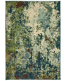 """Oriental Weavers Dawson 8021B Blue/Green 9'10"""" x 12'10"""" Area Rug"""