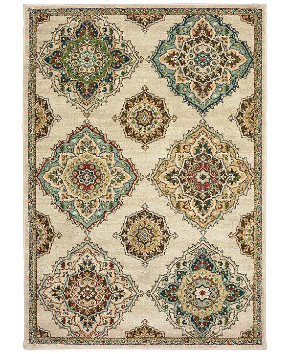"Oriental Weavers Dawson 8334A Beige/Multi 5'3"" x 7'6"" Area Rug"