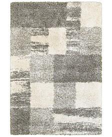 "Oriental Weavers Henderson Shag 5502H Ivory/Gray 6'7"" x 9'6"" Area Rug"