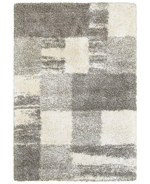 "Oriental Weavers Henderson Shag 5502H Ivory/Gray 1'10"" x 3'3"" Area Rug"