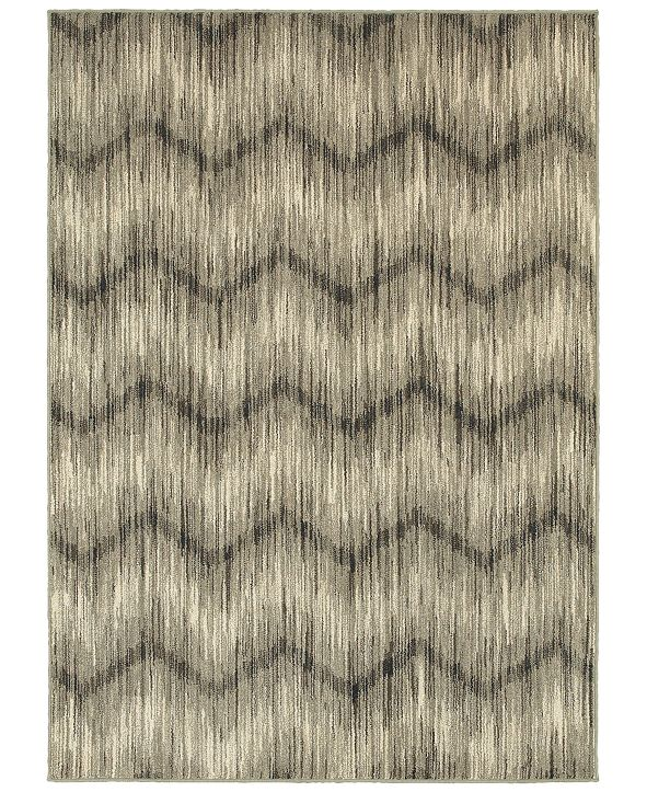 "Oriental Weavers Highlands 6608A Gray/Ivory 6'7"" x 9'6"" Area Rug"