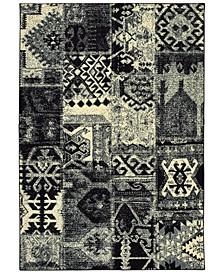 """Luna 1804K Black/Ivory 5'3"""" x 7'6"""" Area Rug"""