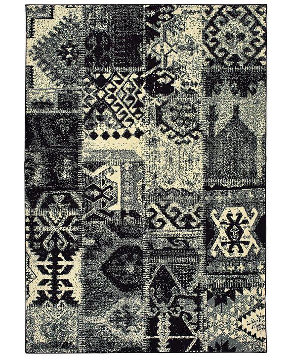 "Oriental Weavers Luna 1804K Black/Ivory 3'10"" x 5'5"" Area Rug"