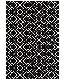 "Oriental Weavers Luna 8123B Black/Ivory 6'7"" x 9'6"" Area Rug"