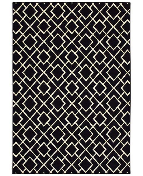"Oriental Weavers Luna 8123B Black/Ivory 9'10"" x 12'10"" Area Rug"