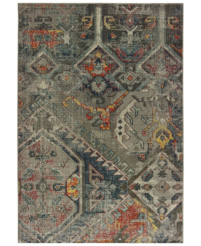 "Oriental Weavers Mantra 1X Gray/Multi 6'7"" x 9'6"" Area Rug"