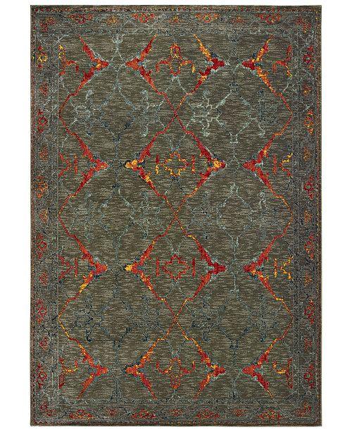 "Oriental Weavers Mantra 5502D Gray/Red 7'10"" x 10'10"" Area Rug"