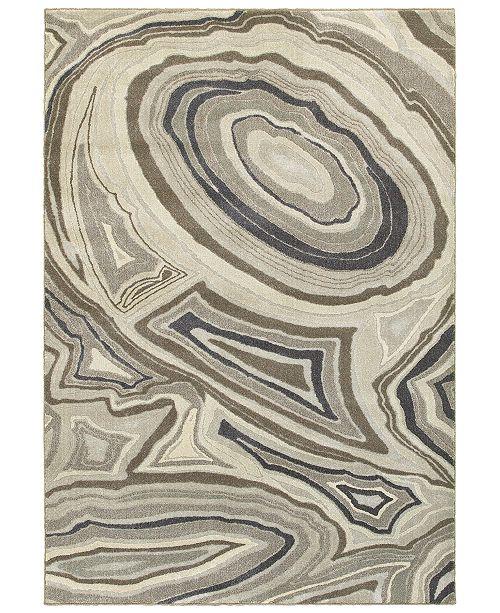 "Oriental Weavers Rowan 99E Ivory/Gray 7'10"" x 10'10"" Area Rug"