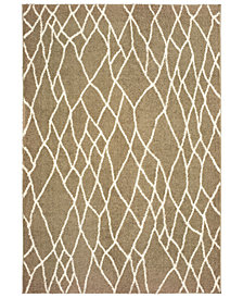 "Oriental Weavers Verona Shag 560J Taupe/Ivory 5'3"" x 7'6"" Area Rug"
