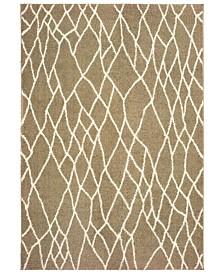 "Oriental Weavers Verona Shag 560J Taupe/Ivory 3'10"" x 5'5"" Area Rug"