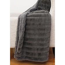 """Samantha Stripe Faux Fur Decorative 50"""" x 60"""""""