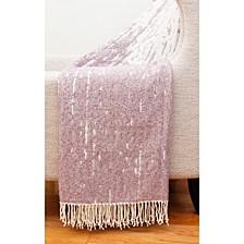 "Massi Fringe Decorative Knit 50"" x 60"""