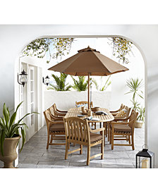 Bristol Teak Outdoor Dining Collection, Created for Macy's