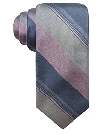 Ryan Seacrest Distinction™ Men's Ponsay Slim Stripe Silk Tie, Created for Macy's