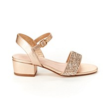 Toddler, Little & Big Girls Hillary Metallic Sandal with Glitter
