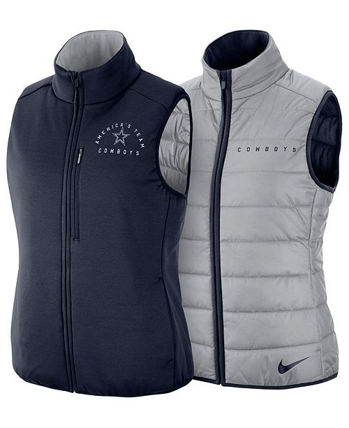 e4396bf9aaaf9 Nike Women s Dallas Cowboys Reversible Vest  Nike Women s Dallas Cowboys  Reversible ...