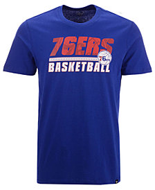 '47 Brand Men's Philadelphia 76ers Fade Back Super Rival T-Shirt