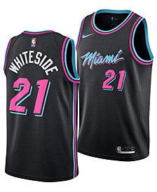 Nike Men's Hassan Whiteside Miami Heat City Swingman Jersey 2018