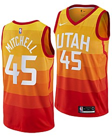 Men's Donovan Mitchell Utah Jazz City Swingman Jersey 2018