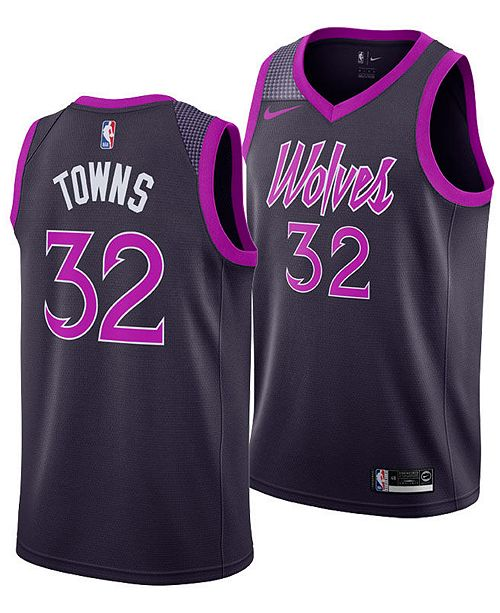 d80d9aa5a ... Nike Karl-Anthony Towns Minnesota Timberwolves City Edition Swingman  Jersey 2018