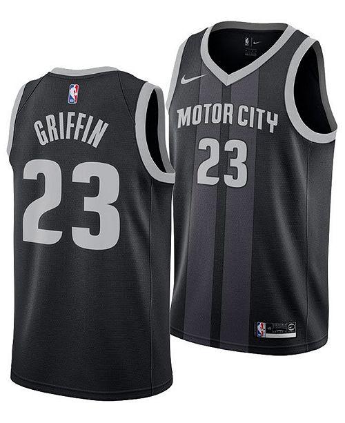 b5e2566e78d ... Nike Blake Griffin Detroit Pistons City Edition Swingman Jersey 2018,  Big Boys (8- ...