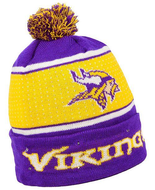 1d376ef1bc9 ... Forever Collectibles Minnesota Vikings Big Logo Light Up Knit Hat ...