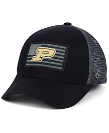 a9310b06ff288 Top of the World Purdue Boilermakers Back the School Flag Trucker Cap
