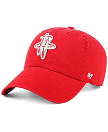'47 Brand Women's Houston Rockets Glitta CLEAN UP Strapback Cap