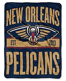 New Orleans Pelicans Micro Raschel Clear Out Throw Blanket