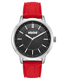 Unlisted Men's Red Silicone Sport Watch, 44MM