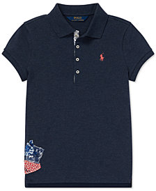 Polo Ralph Lauren Big Girls Flag Patch Polo